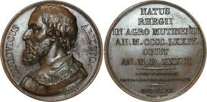 O5360 Rare Medaille Louis Ariosto Vivier 1820 Baron desnoyers SPL ->Make offer