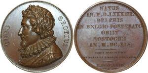 O5368 Scarce Medaille Hugo Grotius Holland Advocate Caqué Baron desnoyers SPL