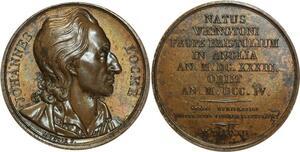 O5379 Scarce Medal British Locke Jean Caunois 1819 Baron desnoyers SUP