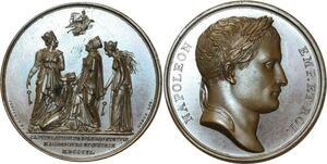 O5392 Rare Medaille Napoleon I Spandau Magdebourg 1806 Jeuffroy desnoyers SPL