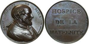 O5423 Medaille Hospice maternité Saint Vincent Paul Jeuffroy desnoyers SPL