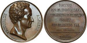 O5427 Rara Italia Medal V Alfieri 1749 1803 Conte Cortemilia desnoyers SPL
