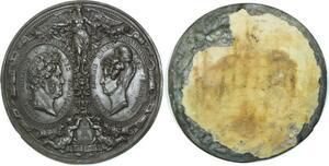 O5477 Rare Epeuve Plaque Louis-Philippe Marie Amélie 1830 Barre desnoyers SUP