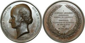 O5498 Rare Coffret Medaille Achille Leclère Architecte Petit 1853 desnoyers
