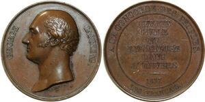 O5500 Scarce GB Medal George Canning Tribute 1827 Baron desnoyers SPL