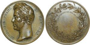 O5515 Rare Medaille Charles X Puy-de-Dôme depaulis Baron desnoyers SPL FDC