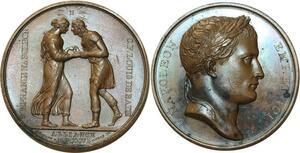 O5578 Rare Medaille Stephanie Napoleon 1806 Droz Andrieu desnoyers SUP+