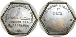 O5702 Rare Jeton Louis-Philippe 1834 Archange 1er prix Baron desnoyers SUP