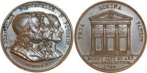 O5751 Rare Jeton Rouen Corneille Fontenelle 1744 depaulis desnoyers SUP+