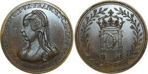 O5774 Rare Medaille Catherine de Medicis 1519-1589 Baron desnoyers SPL