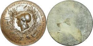 O5862 Rare Cliqué uniface Napoleon beaux-arts Rome 1803 Baron desnoyers SUP