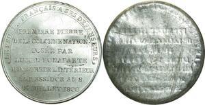 O5865 Rare Medaille uniface Lucien Bonaparte Napoleon I an 8 1800 desnoyers SPL