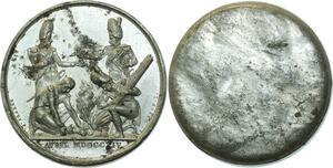 O5908 Rare Medaille Napoleon I 1814 Garde Nationale deNon Baron desnoyers SUP