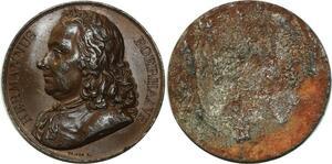 O5923 Rare Medaille uniface Hermannus Boerhaave Vivier Baron desnoyers