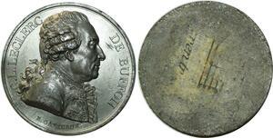O5929 Rare Medaille Uniface Leclerc de Bouffon Gatteaux Baron desnoyers SPL