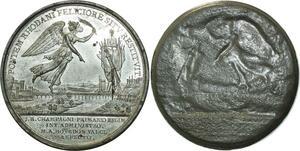 O5938 Rare Medaille Uniface Napoleon I Pont AvigNon 1805 Baron desnoyers SPL