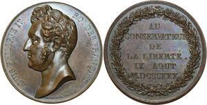 O5993 Rare Medaille Louis-Philippe liberté 1830 Baron desnoyers SPL