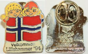Q0460 Norway Pins Olympics Games Lillehammer 1994 Gold plated -> Make offer