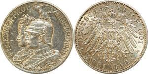 Q0546 Germany Prussia 2 Mark Wilhelm II 1901 Silver AU > Make Offer