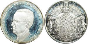 R0217 Médaille Belgique 60 ans Roi Baudouin 1930 1990 Silver Proof ->M Offer