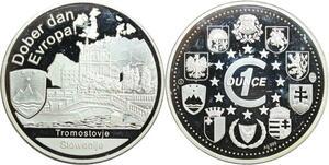 R0227 Slovenia Medal Dober Tromostoje 1oz Dober dan Europa 999% Silver