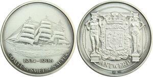 R0232 Médaille Belgique Antwerp Anvers Ship Comte Smet Naeyer 1904 1906 UNC