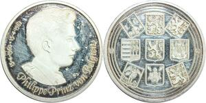 R0237 Médaille Belgique Prince Philippe Silver 1960 1981 Silver  -Offer