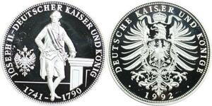 R0272 Medal Austria Germany Joseph II Habsburg 1992 Silver Proof - M Offer