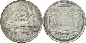 R0288 Medal Belgium Mercator Ship 1932 Antwerp 1961-1981 Silver UNC