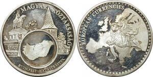 R0291 Medal Hungary Budapest Magyar Köztársaság European Currencies Silver
