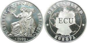 R0359 Germany Medal Europe Ecu 1992 Einigkeit recht Freiheit Proof - Offer
