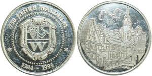 R0361 Germany Medal 750 Jahre Waldulm near Baden Baden 1244 - 1924 Proof