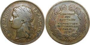 R0400 Médaille France Exposition Universelle Paris 1878 Barre - Make Offer
