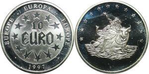 R0415 Europa 10 Euros 1997 Liberté Taureau Proof - Make Offer