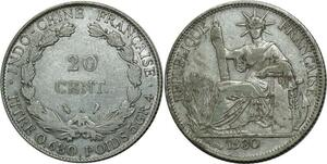 P8131 British Virgin Islands 20 dollars Elizabeth II Cob coin 1985 Silver PROOF