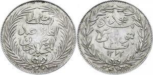 O2716 Very Rare !! 3 Riyal 1272 H 1856 Tûnis Abdul Medjid Superbe ->Make offer