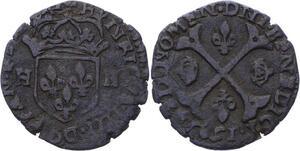 O2789 Faux D'epoque Henri IV douzain aux 2 H 1595 ->Make offer