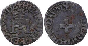 O2808 Navarre Henri d'Albret 1516-1555 Liard à la Croisette ->Make offer