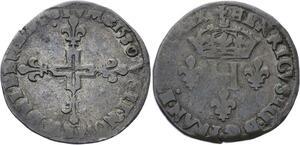 O2810 Henri III Double sol parisis 1580 A Paris ->Make offer