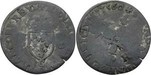 O2822 Rare !! Douzain aux Croissants Henri III 1560 C Saint-Lô ->Make offer