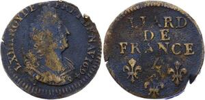 O2826 Rarissime Inedit Jamais Vu Liard de France Louis XIV 1694 Z  ->Make offer