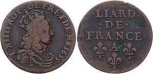 O2829 Liard de France Louis XIV 1655 A Corbeil ->make offer