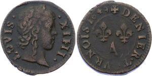 O2833 2 deniers Louis XIV 1649/8 ->Make offer
