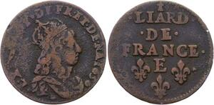 O2839 Liard de France Louis XIV 1656 E Meung sur Loire ->Make offer