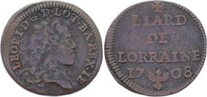 O2868 Lorraine duche de Lorraine Léopold 1er Liard 1708 ->Make offer