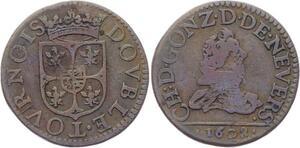 O2873 Charleville Charles Ier de Gonzague double tournois 3e type 1608