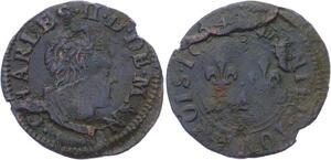 O2881 Charleville Charles II Gonzague denier tournois 1654 Charleville