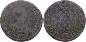 O2885 Rare R3 Alsace Phalsbourg Lixheim Henriette double tournois 1633