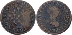 O2889 Rare R3 Alsace Phalsbourg Lixheim Henriette double tournois 1633