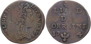 O2904 Lorraine Léopold Ier Liard 1714 Nancy ->Make offer